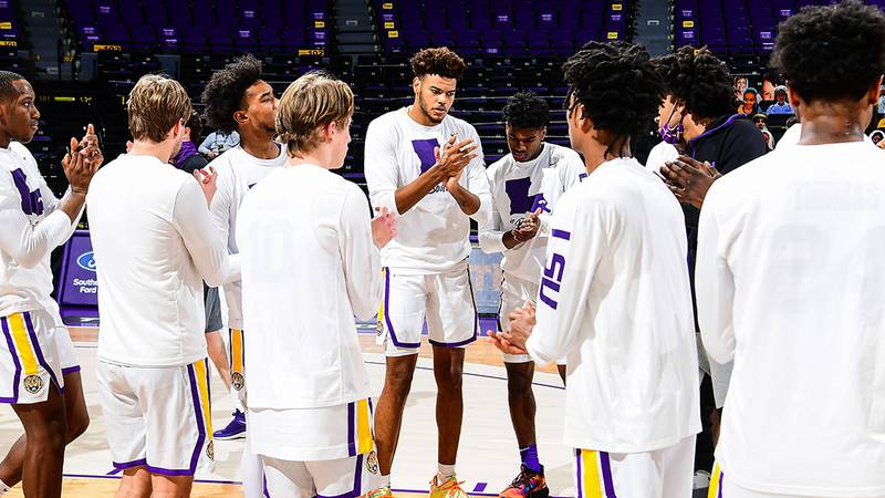 LSU Tigers during a game against the Sam Houston State Bearkats at Pete Maravich Assembly...