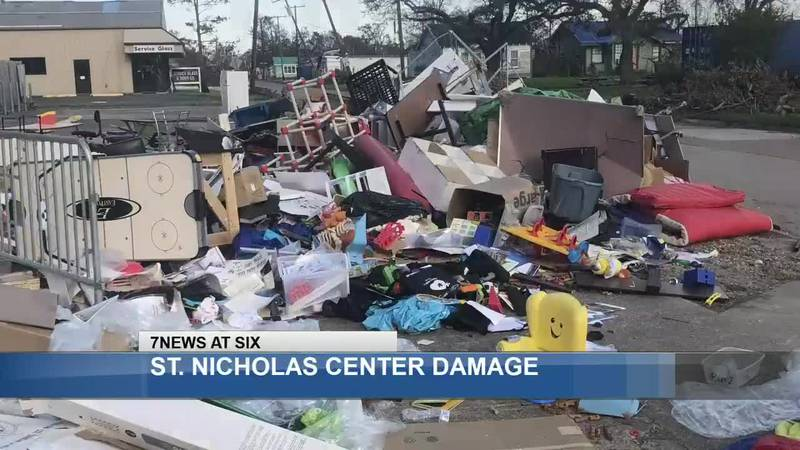The outside of the St. Nicholas Center for Children almost appears to be untouched. However, 95...