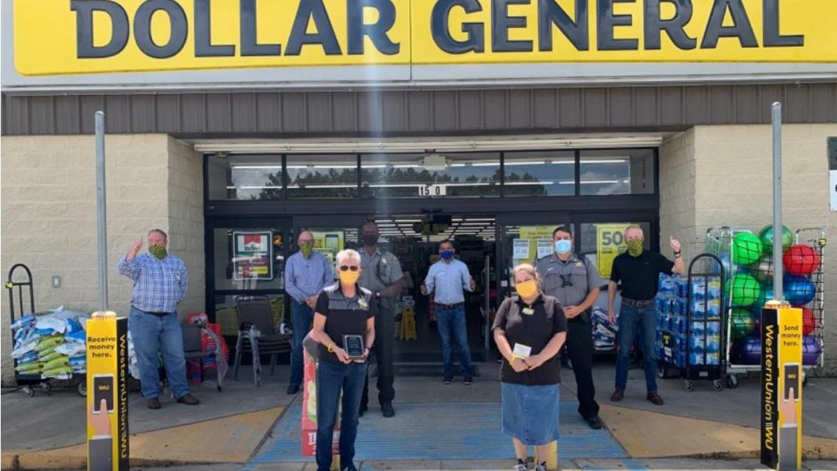 Two Dollar General employees, Sallye Salter and Tiffany Cook, were honored today by Dollar...