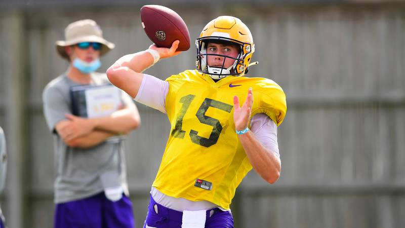 LSU was back on the practice field on August 19, 2020.