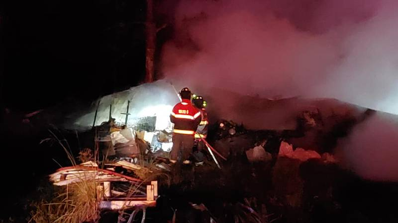 A mobile home on La. 389 burned early Tuesday morning. The home was a total loss, according to...