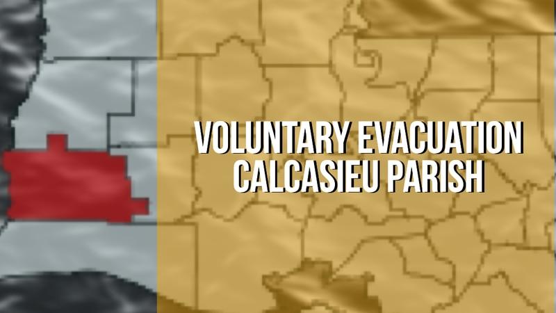 Voluntary evacuation issued in Calcasieu ahead of Hurricane Ida.