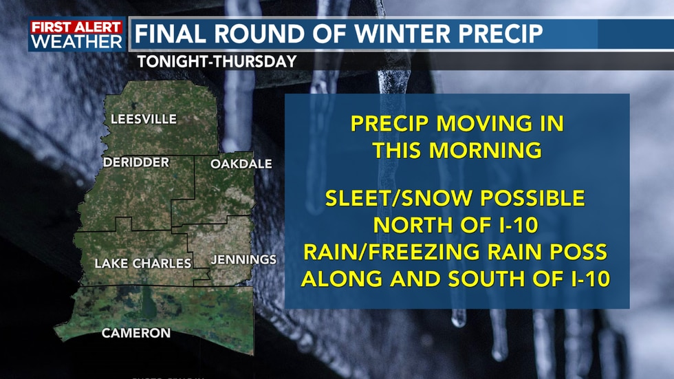 We see our last round of winter weather this morning