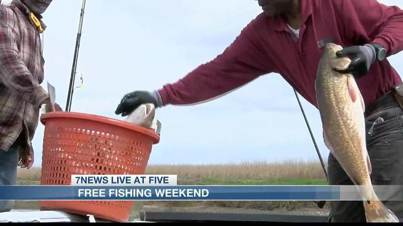Louisiana's free fishing weekend kicks off June 12th.