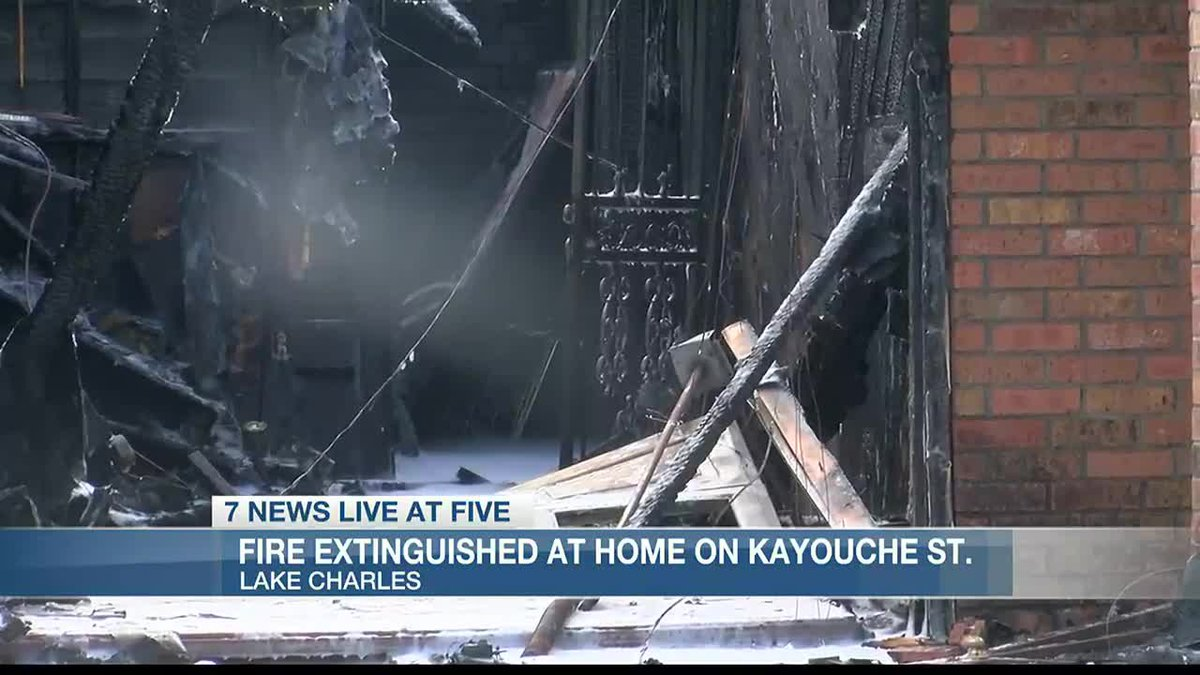Lake Charles Fire Department extinguishes residential fire on Kayouche St.