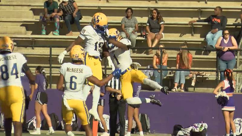 Pokes get rivalry win over Demons, 35-17
