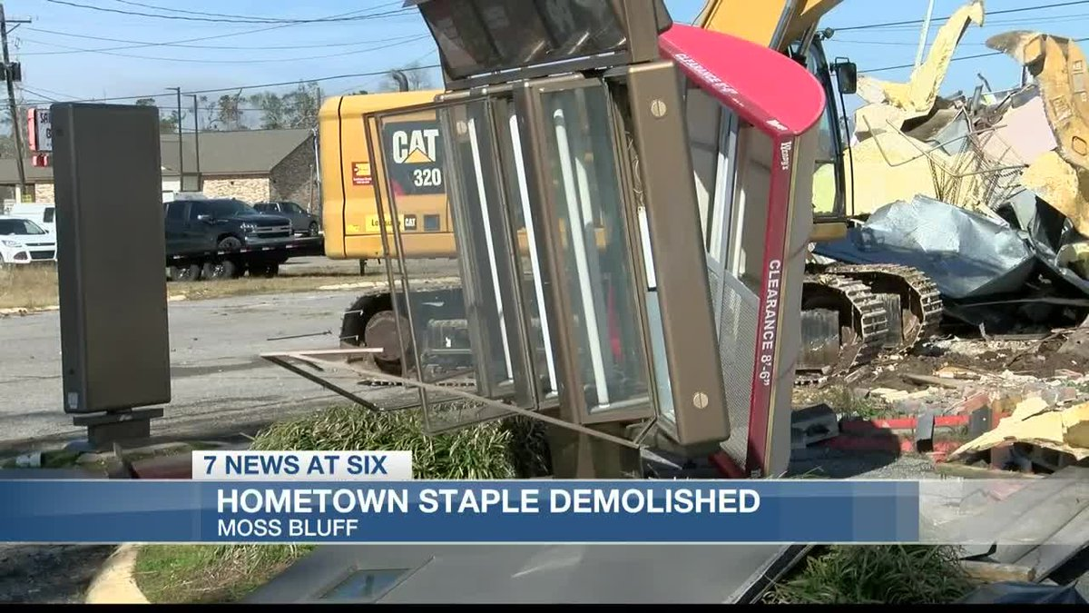 Hometown staple in Moss Bluff Demolished Tuesday.