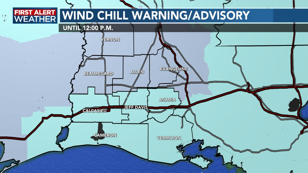 Dangerous wind chill values across the area this morning
