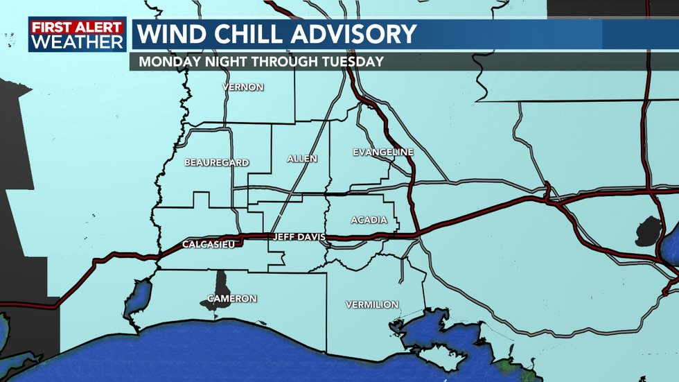 Wind Chill Advisory remains in effect tonight through Tuesday morning