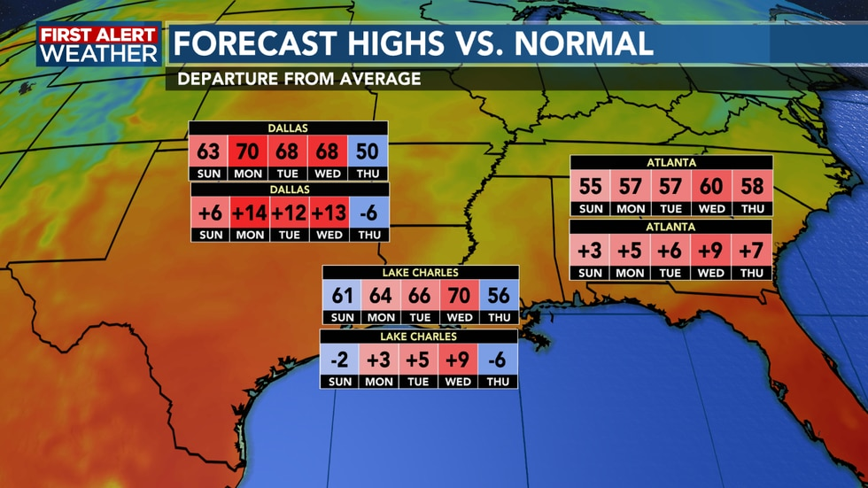 We look to top out near 70 for Wednesday as high pressure settles in