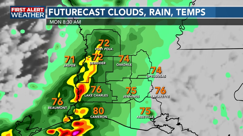 Some heavy downpours possible through the morning
