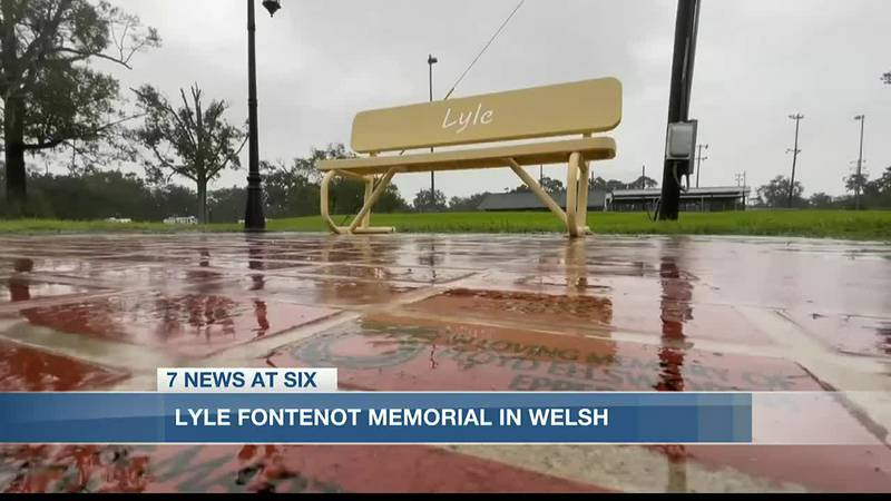 A yellow bench honoring Lyle now welcomes those who choose to stop by the John Blank Sportsman...