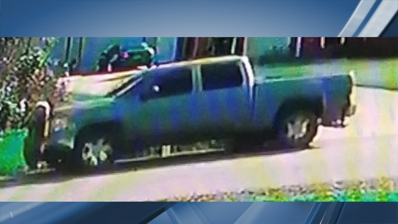 The truck involved in the hit-and-run.