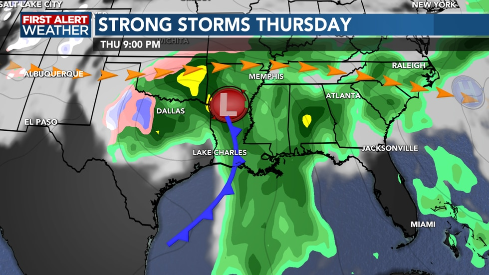 Rain and storms on the rise for Thursday