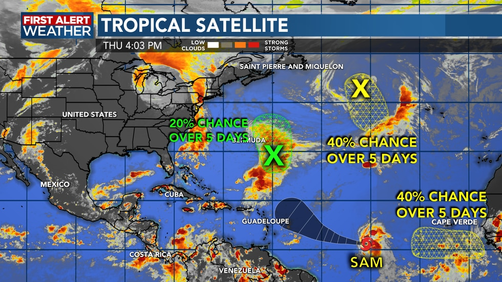 The tropics remain active, but no threats to the Gulf or Southwest Louisiana