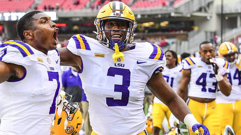 Andre Anthony (3) is primed for a big 2021 season. Photo By: Chris Parent / LSU Athletics