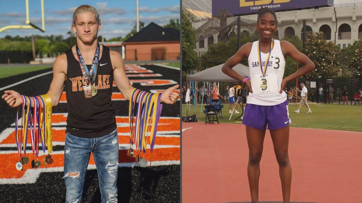 Westlake's Brock Meyer and Sam Houston's Halyn Senegal were named to the 2020 All-State Track...