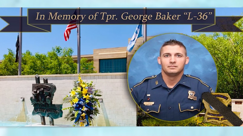 Louisiana State Police (LSP) Trooper George Baker, 33, died Sunday, May 24, surrounded by a...