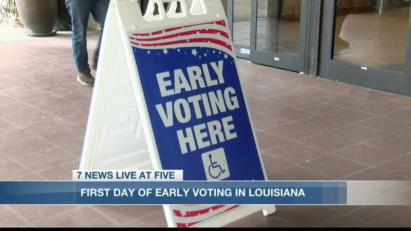 Thousands of people in SWLA showed up to vote on the first day of early voting.