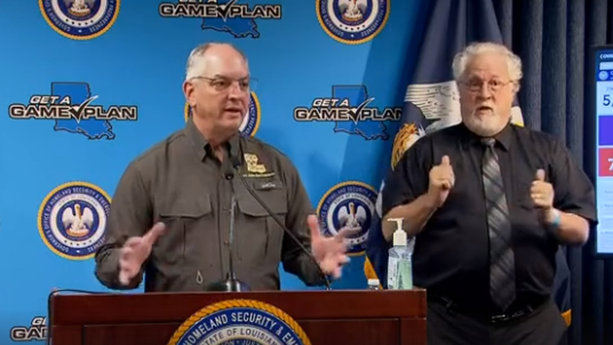 Gov. Edwards said that weather and large crowds are both threats to a state struggling to...