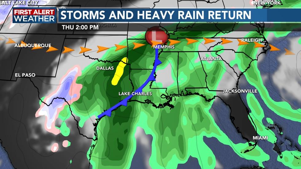Heavy rain possible as we head into Thursday