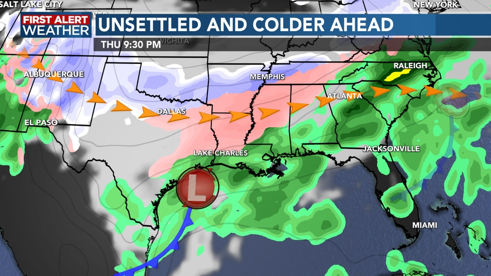 We see colder and rainy conditions return next week