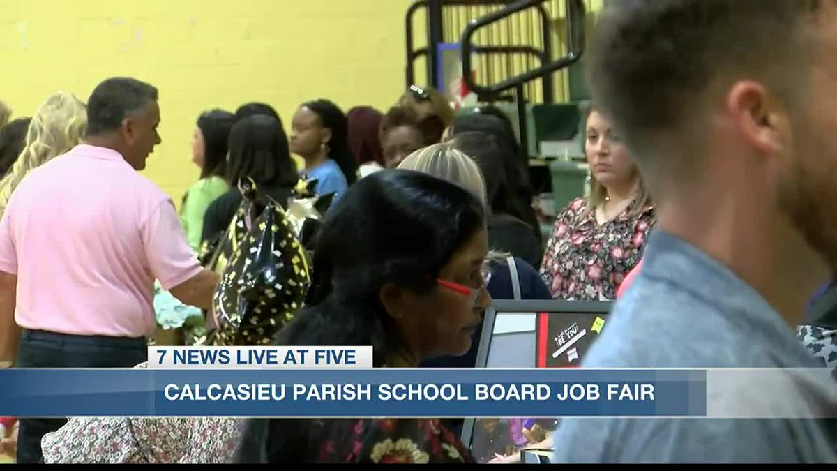 Calcasieu Parish School Board Job Fair returns.