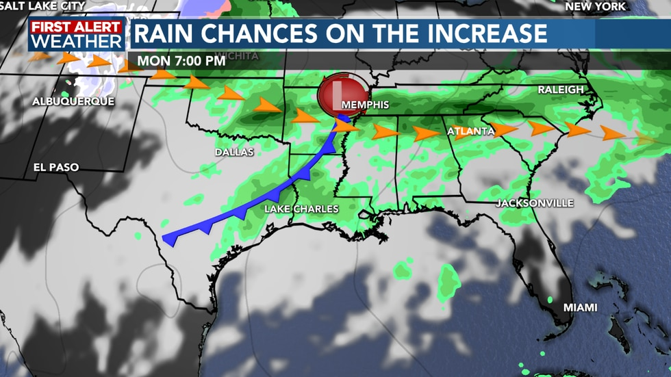 Rain chances remain elevated into next week