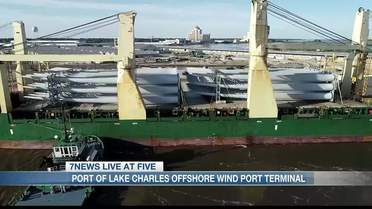 Port of Lake Charles looking into an offshore wind port terminal.