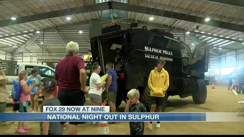 The Sulphur police department held their national night out against crime tonight