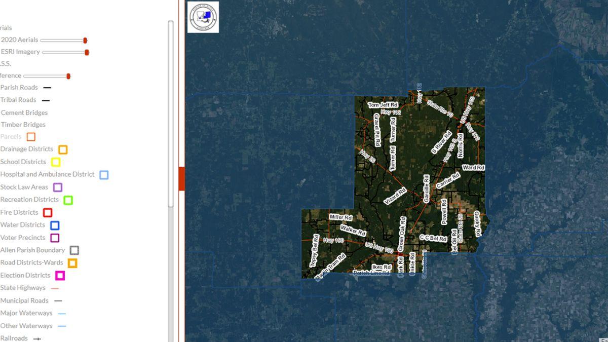 Allen Parish releases new interactive GIS website