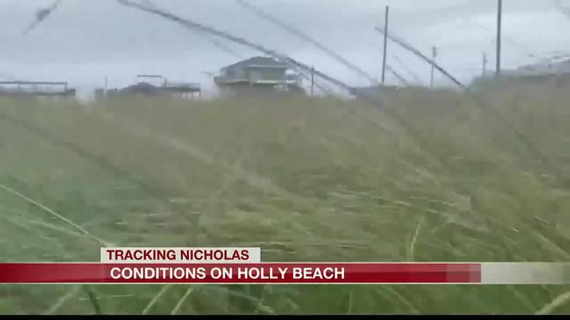 Some Cameron Parish residents ride out Tropical storm Nicholas.