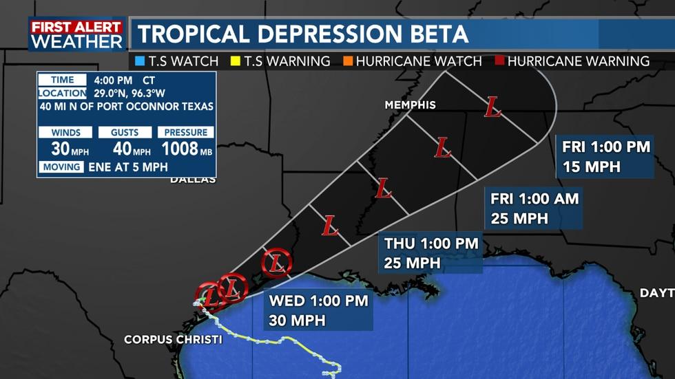 Tropical Depression Beta