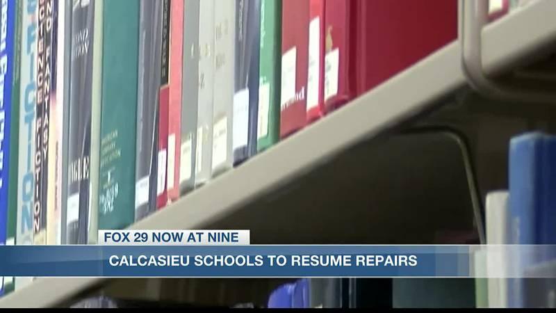 Calcasieu Parish schools to resume hurricane construction