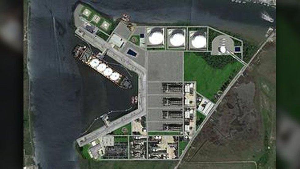 Mock-up of future SCT&E LNG facility. (Source: SCT&E LNG)