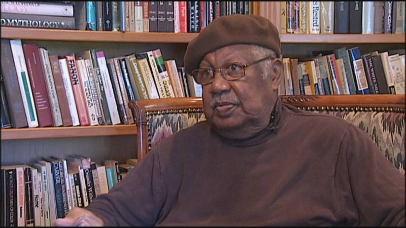 Ernest J. Gaines during an interview conducted in 2012 with WAFB reporter Graham Ulkins.