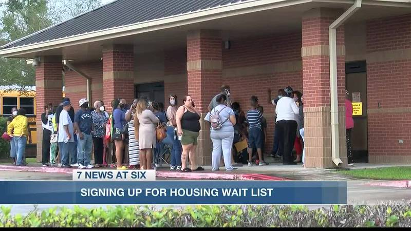 Parish officials said 566 people signed up to be put on the waiting list Tuesday.