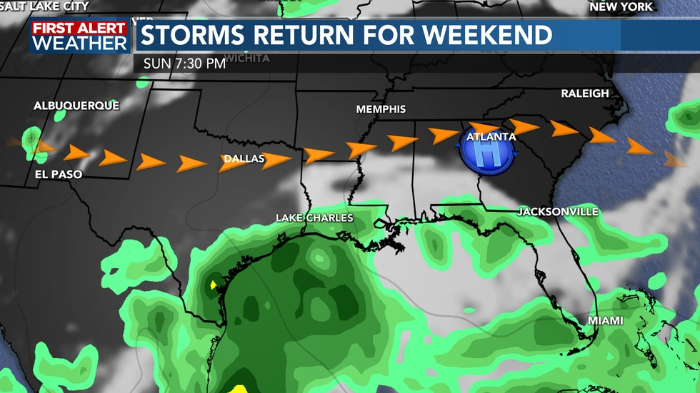 Rain chances are high and will last until next week