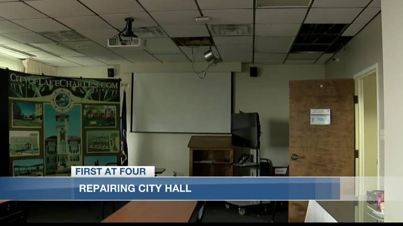 Like many others in Lake Charles, City Hall is still dealing with repairs.
