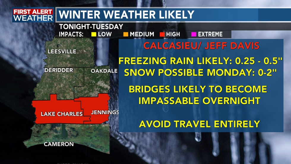 Freezing rain, sleet and snow cause dangerous travel conditions