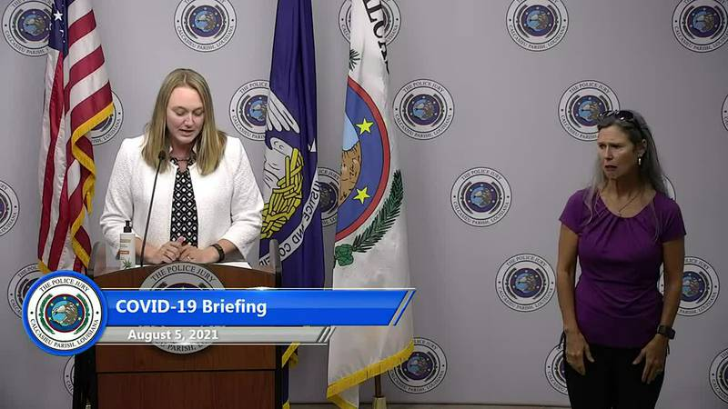 Local and state officials, along with medical personnel, updated the media and the public on...