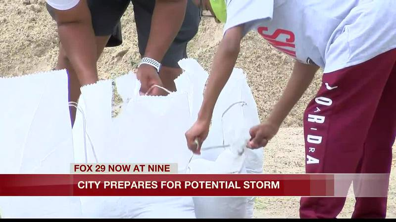 Lake Charles officials prepare for potential storm.