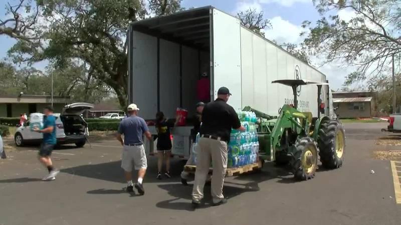 Sulphur receives 18-wheeler full of donations from North Carolina